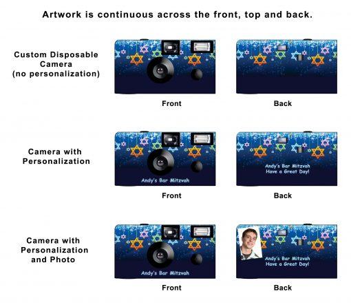 Star Shower Custom Disposable Camera