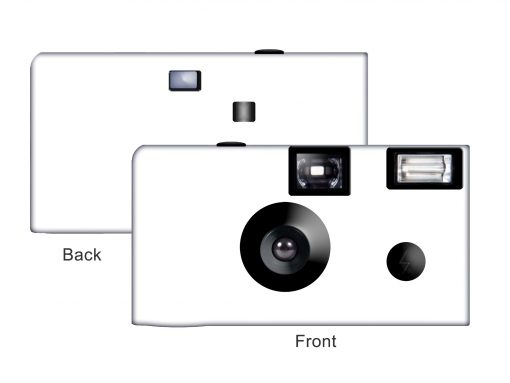 All White Custom Disposable Camera