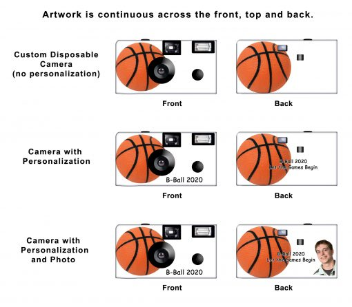 Basketball 2 Custom Disposable Camera