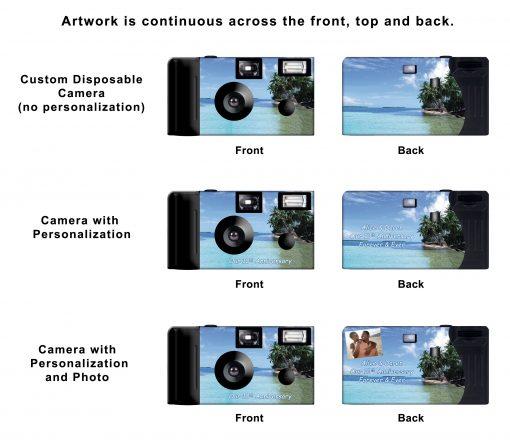 Beach Palm Trees Custom Disposable Camera