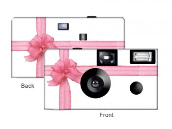 Beautiful Pink Ribbon Custom Disposable Camera