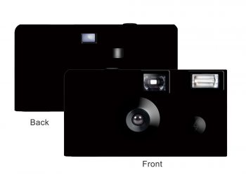 Black Cover Custom Disposable Camera