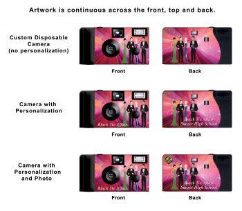 Black Tie Affair Custom Disposable Camera