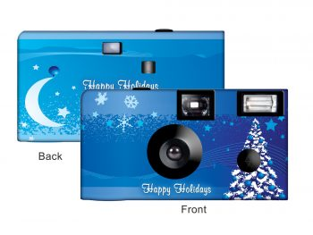 A Blue Christmas Custom Disposable Camera