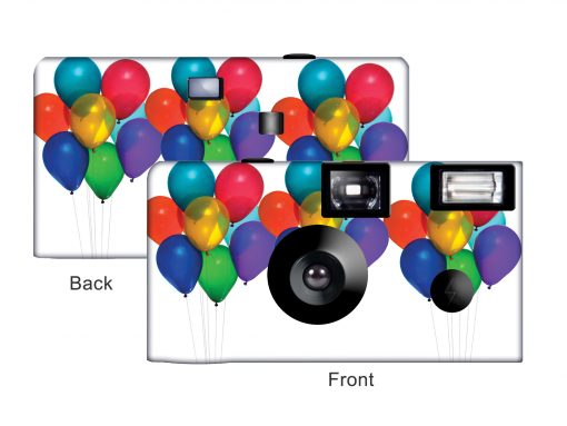 Bright Party Balloons Custom Disposable Camera