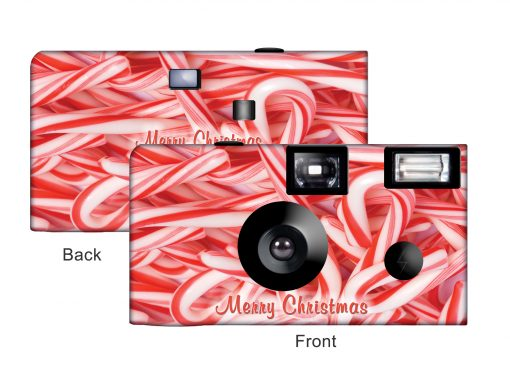 Candy Canes Custom Disposable Camera