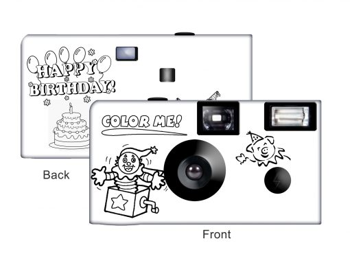 Color My Camera - A Happy Birthday Disposable Camera