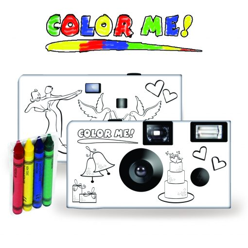 Color-My-Cam - Wedding Disposable Camera for Kids