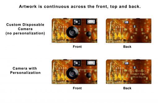 Confetti and Champagne Custom Disposable Camera