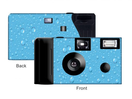 Cool Blue Custom Disposable Camera