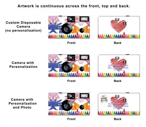 Crayon Love Custom Disposable Camera