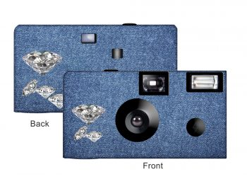 Denim & Diamonds Custom Disposable Camera