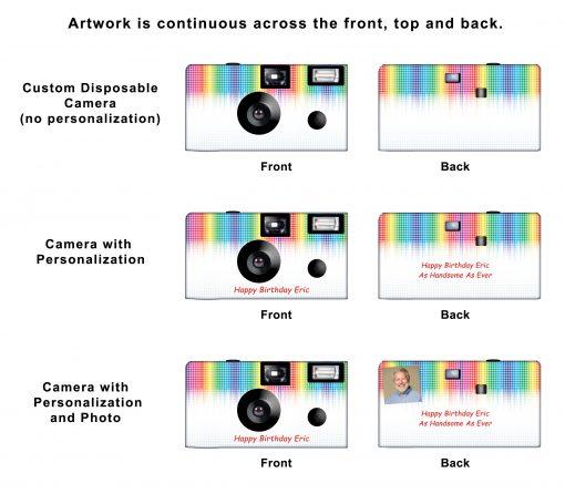 Electronic Rainbow Custom Disposable Camera