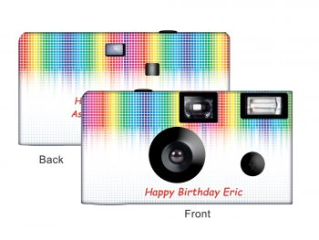 Electronic Rainbow Custom Disposable Camera