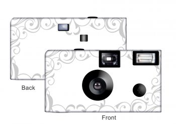 Elegant Wedding Custom Disposable Camera (Silver)