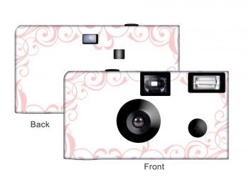 Elegant Wedding Custom Disposable Camera (Pink)