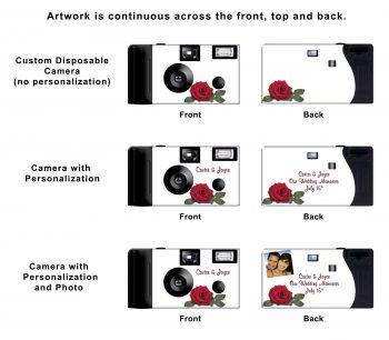 Red Roses Custom Disposable Camera