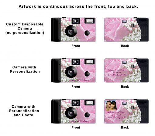 Morning Rose Custom Disposable Camera