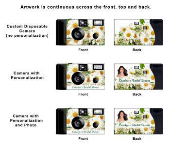 White Daisies Custom Disposable Camera