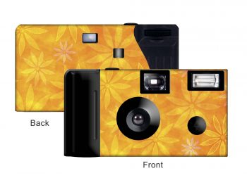 Orange Daisies Custom Disposable Camera