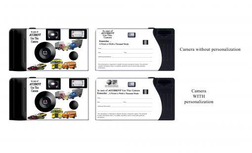 White Camera Accident Custom Disposable Camera