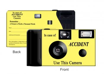 Yellow Accident Custom Disposable Camera