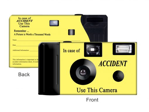 Yellow Accident Custom Disposable Camera