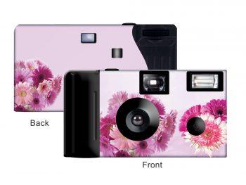 Pink Gerbera Daisies Custom Disposable Camera