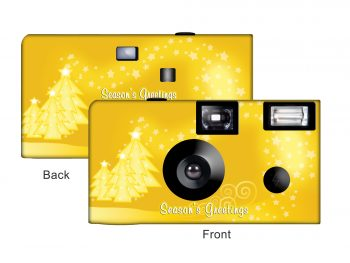 A Gold Christmas Custom Disposable Camera