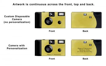 Gold Foil Custom Disposable Camera