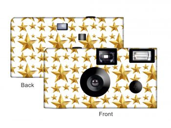Gold Starburst Custom Disposable Camera