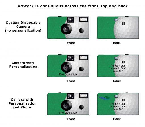 Golf Custom Disposable Camera