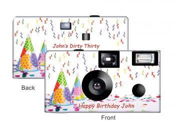 A Happy Birthday Custom Disposable Camera
