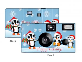 Holiday Penguins Custom Disposable Camera