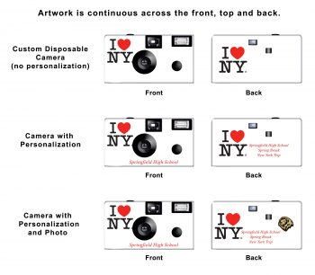I Love New York Custom Disposable Camera