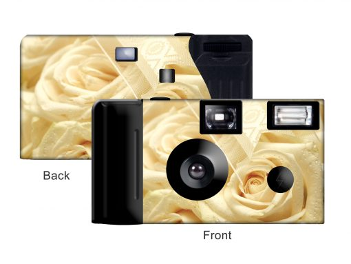 Ivory Lace Custom Disposable Camera