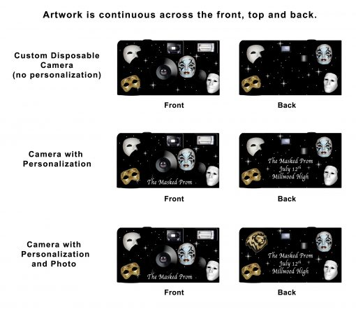 Masquerade Custom Disposable Camera