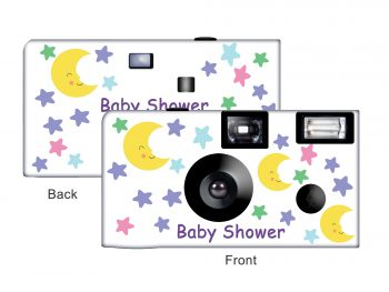 Moon & Stars Baby Shower Custom Disposable Camera