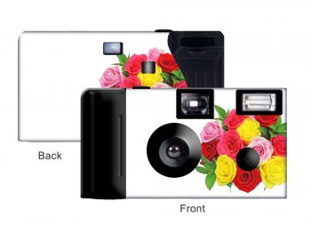 Multi Colored Roses Custom Disposable Camera