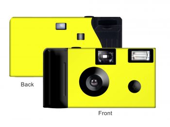 Fluorescent Yellow Background Custom Disposable Camera