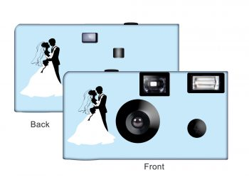 Newlyweds In Silhouette Custom Disposable Camera