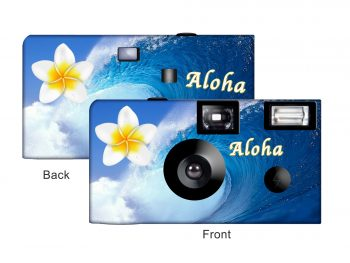 Ocean Flowers Custom Disposable Camera
