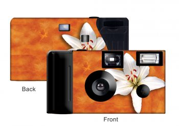 Orange Lily Custom Disposable Camera