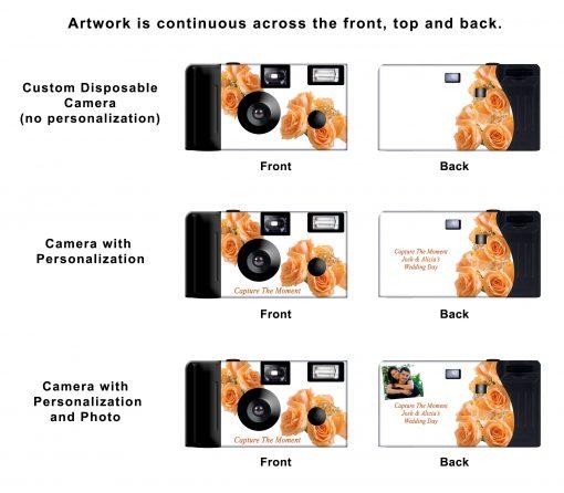 Peach Roses Custom Disposable Camera