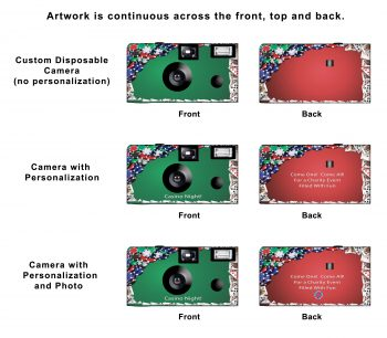 Poker Night Custom Disposable Camera