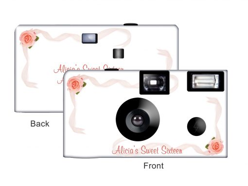 Roses & Ribbons Custom Disposable Camera