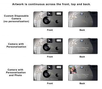 Silver Bells Custom Disposable Camera