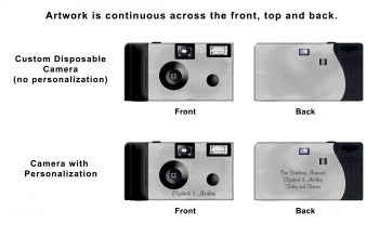 Silver Foil Custom Disposable Camera