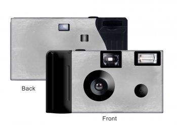 Silver Foil Custom Disposable Camera