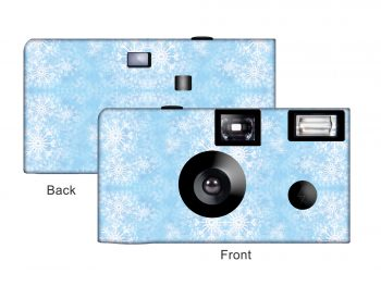 Snowflakes Custom Disposable Camera